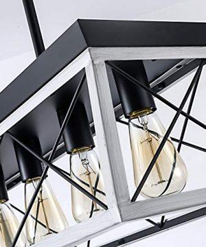 XIPUDA 5 Light Linear Pendant Light Fixture Kitchen Island Lighting Industrial Metal Farmhouse Chandeliers For Dinning Room Living Room 0 2 300x360