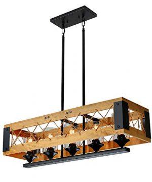 XIPUDA Kitchen Island Lighting Industrial Farmhouse Pendant Light Dinning Room Chandeliers Rustic Pendant Light Fixtures 0 300x360