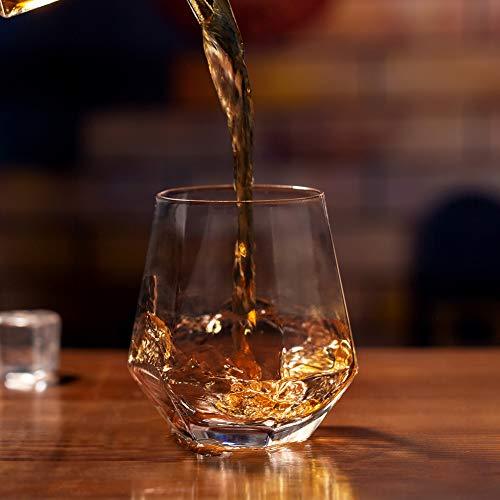 Zfitei Whiskey Glasses Set Of 211 OzOld Fashioned Drinking GlasswareThick Weighted Bottom Rocks Glasses 0 2