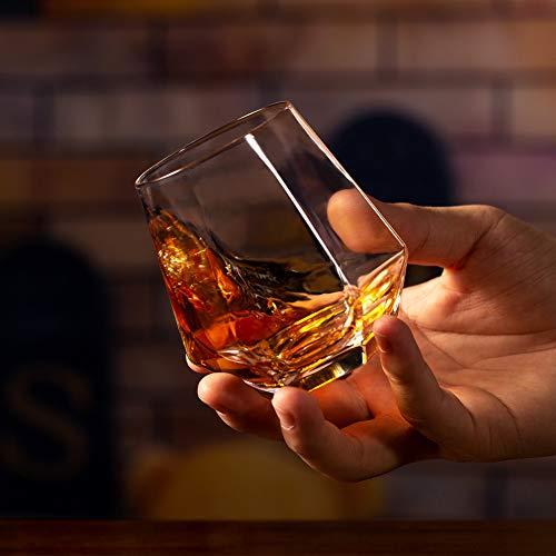 Zfitei Whiskey Glasses Set Of 211 OzOld Fashioned Drinking GlasswareThick Weighted Bottom Rocks Glasses 0 3