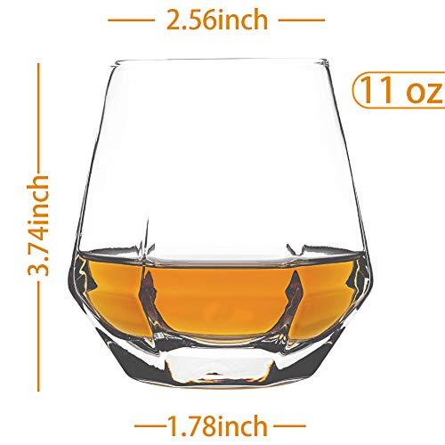 Zfitei Whiskey Glasses Set Of 211 OzOld Fashioned Drinking GlasswareThick Weighted Bottom Rocks Glasses 0