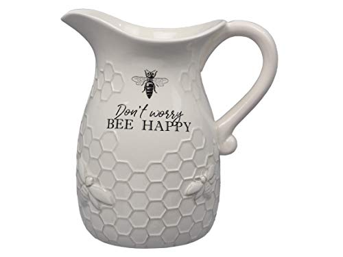 Youngs Inc Ceramic Bee Water Pitcher Multi 0