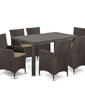 7 Pc Back Yard Wicker Dining Set For 6 In Dark Brown Finish 0 0 300x360