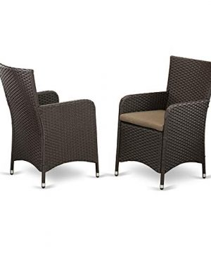 7 Pc Back Yard Wicker Dining Set For 6 In Dark Brown Finish 0 1 300x360
