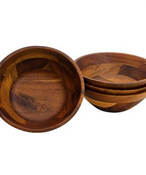 AIDEA Wooden Bowls Salad Bowl 7 Inch Set Of 4 0 2 300x360