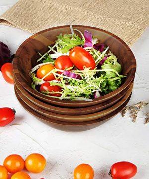 AIDEA Wooden Bowls Salad Bowl 7 Inch Set Of 4 0 3 300x360