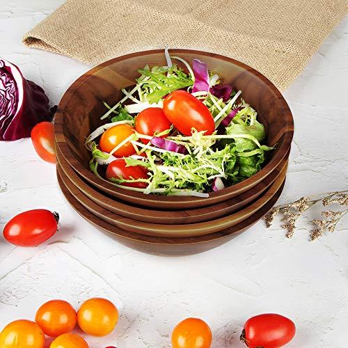 AIDEA Wooden Bowls Salad Bowl 7 Inch Set Of 4 0 3