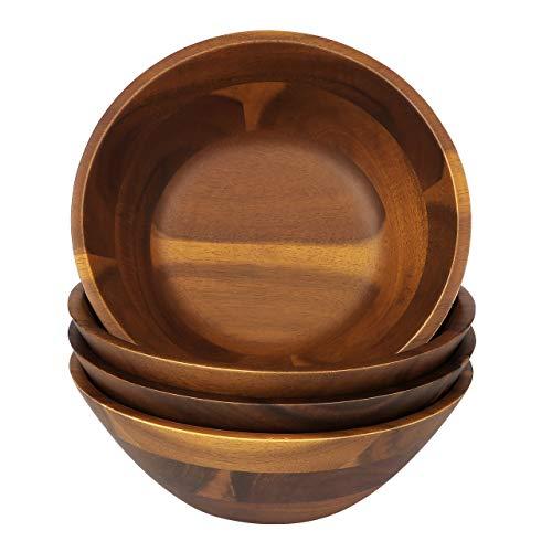 AIDEA Wooden Bowls Salad Bowl 7 Inch Set Of 4 0