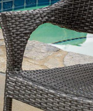 Alameda Outdoor 5 Piece Grey Wicker Dining Set 0 0 300x360