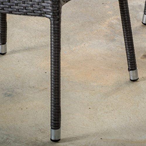 Alameda Outdoor 5 Piece Grey Wicker Dining Set 0 3