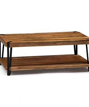 Alaterre Furniture Ryegate Natural Solid Wood With Metal Coffee Table Live Edge 0 300x360