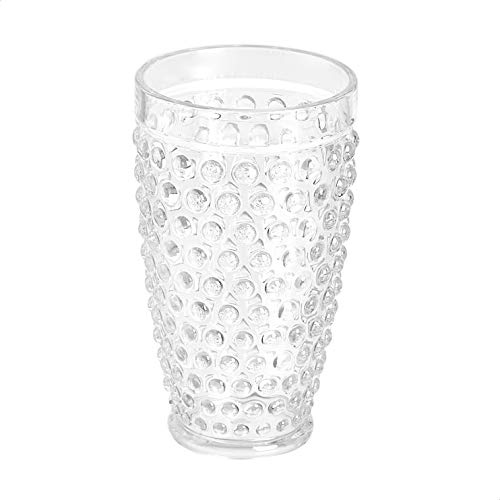 Amazon Basics 12 Piece Tritan Glass Drinkware Set Hobnail Highball And Double Old Fashioned 6 Pieces Each 18oz13oz 0 0