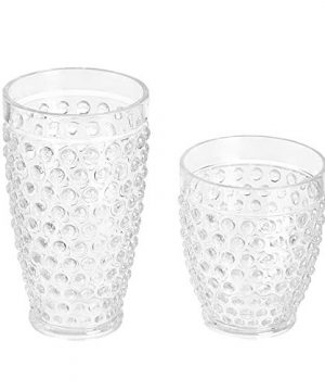 Amazon Basics 12 Piece Tritan Glass Drinkware Set Hobnail Highball And Double Old Fashioned 6 Pieces Each 18oz13oz 0 1 300x360