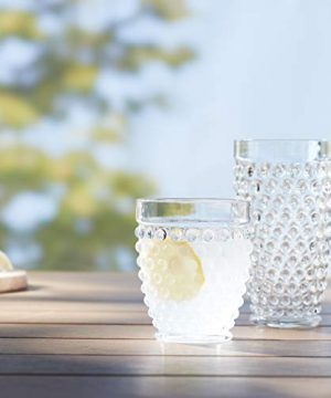 Amazon Basics 12 Piece Tritan Glass Drinkware Set Hobnail Highball And Double Old Fashioned 6 Pieces Each 18oz13oz 0 3 300x360