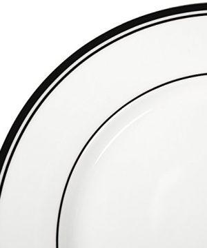 Amazon Basics 16 Piece Cafe Stripe Kitchen Dinnerware Set Plates Bowls Mugs Service For 4 Black 0 2 300x360