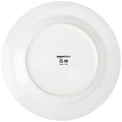 Amazon Basics 16 Piece Cafe Stripe Kitchen Dinnerware Set Plates Bowls Mugs Service For 4 Black 0 3