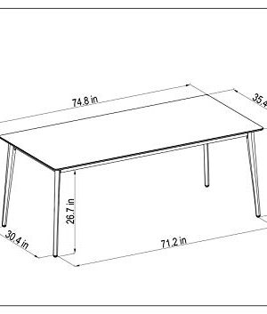 Amazonia Adak 9 Piece Outdoor Rectangular Dining Table Set Eucalyptus Wood Ideal For Patio And Indoors 0 3 300x353