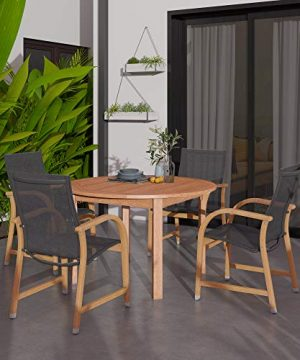 Amazonia Bahamas 5 Piece Eucalyptus Round Dining Set 0 300x360