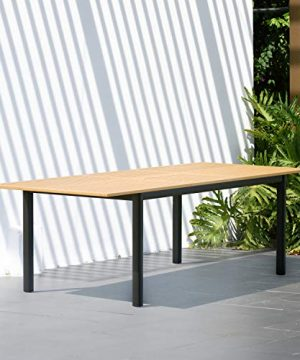 Amazonia Bruges 7 Piece Outdoor Rectangular Dining Table Set Teak Finish Ideal For Patio And Indoors 0 0 300x360