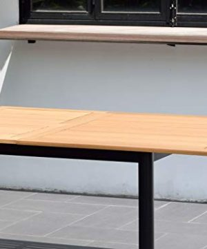 Amazonia Bruges 7 Piece Outdoor Rectangular Dining Table Set Teak Finish Ideal For Patio And Indoors 0 1 300x360