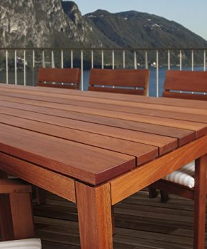 Amazonia Delaware 9 Piece Outdoor Dining Table Set Eucalyptus Wood Ideal For Patio And Indoors Brown 0 1 300x360
