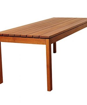 Amazonia Delaware 9 Piece Outdoor Dining Table Set Eucalyptus Wood Ideal For Patio And Indoors Brown 0 2 300x360