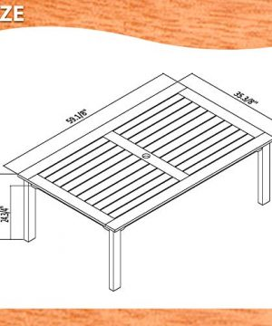 Amazonia Derby 5 Piece Patio Armless Rectangular Dining Set Eucalyptus Wood Ideal For Outdoors And Indoors 0 3 300x360