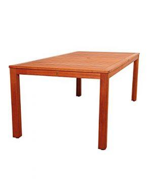 Amazonia Monaco 9 Piece Outdoor Rectangular Dining Table Set Eucalyptus Wood Ideal For Patio And Indoors Dark Teak Finish 0 1 300x360