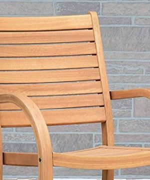 Amazonia Spiaggia 5 Piece Extendable Patio Dining Set Teak Finish And Stackable Chairs Durable And Ideal For Outdoors 0 1 300x360