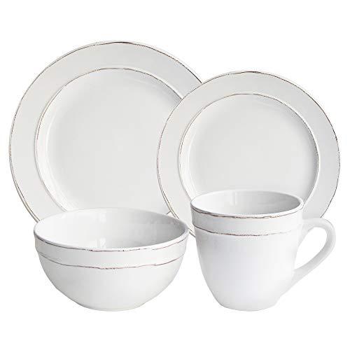 American Atelier Olivia Round 16 Piece Dinnerware Set White 0