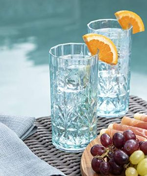 BELLAFORTE Shatterproof Tritan Tall Tumbler Teal 18oz Set Of 4 Myrtle Beach Drinking Glasses Dishwasher Safe Plastic Tumblers Unbreakable Glassware For Indoor And Outdoors BPA Free 0 3 300x360