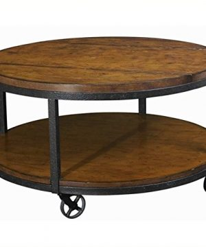 Beaumont Lane Round Cocktail Table In Umber 0 300x360