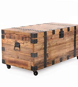 Belmont Home Bexar Reclaimed Wood Trunk Table 41 Inches Brown 0 300x333