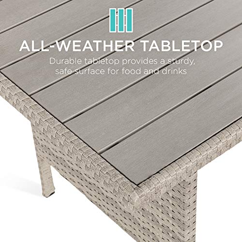 Best Choice Products 7 Seater Conversation Wicker Sofa Dining Table Outdoor Patio Furniture Set WModular 6 Pieces Cushions Protective Cover Included GrayGray 0 1
