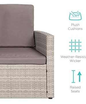 Best Choice Products 7 Seater Conversation Wicker Sofa Dining Table Outdoor Patio Furniture Set WModular 6 Pieces Cushions Protective Cover Included GrayGray 0 4 300x360