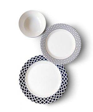Bowla 12 Piece Melamine Dinnerware Set Service For 4 Bluegrass 0 0 300x360