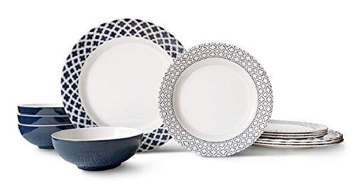 Bowla 12 Piece Melamine Dinnerware Set Service For 4 Bluegrass 0