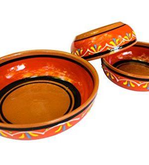 Canyon Cactus Ceramics Spanish Terracotta Set Of 3 Small Dipping Bowls Orange 0 0 300x333