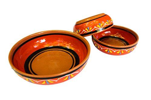 Canyon Cactus Ceramics Spanish Terracotta Set Of 3 Small Dipping Bowls Orange 0 0