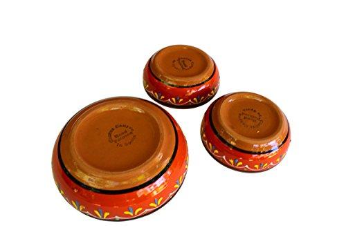 Canyon Cactus Ceramics Spanish Terracotta Set Of 3 Small Dipping Bowls Orange 0 1