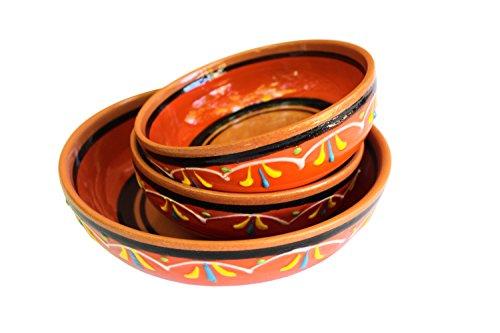 Canyon Cactus Ceramics Spanish Terracotta Set Of 3 Small Dipping Bowls Orange 0 2
