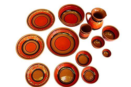 Canyon Cactus Ceramics Spanish Terracotta Set Of 3 Small Dipping Bowls Orange 0 3