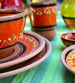 Canyon Cactus Ceramics Spanish Terracotta Set Of 3 Small Dipping Bowls Orange 0 4 300x333