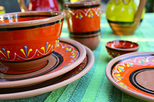 Canyon Cactus Ceramics Spanish Terracotta Set Of 3 Small Dipping Bowls Orange 0 4