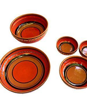 Canyon Cactus Ceramics Spanish Terracotta Set Of 3 Small Dipping Bowls Orange 0 5 300x333