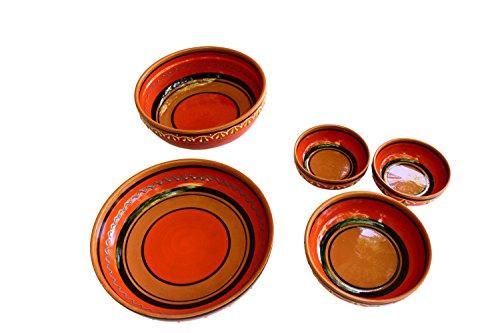 Canyon Cactus Ceramics Spanish Terracotta Set Of 3 Small Dipping Bowls Orange 0 5