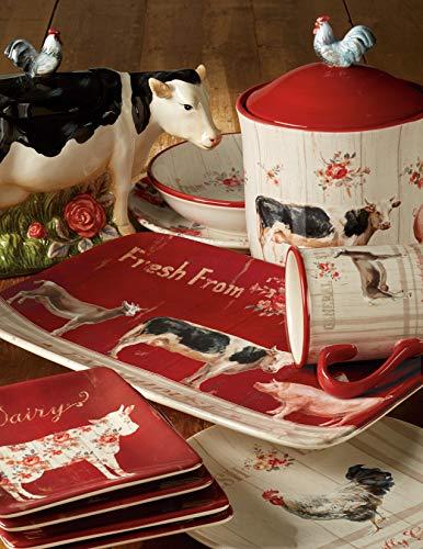 Certified International Famhouse 5Ice Cream BowlsSet Of 4 Assorted Designs 0 0