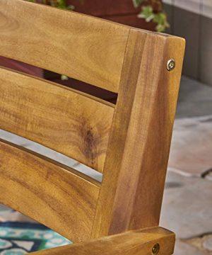 Christopher Knight Home 306255 Renee Outdoor 7 Piece Acacia Wood Dining Set Teak FinishRustic MetalDark Brown 0 1 300x360