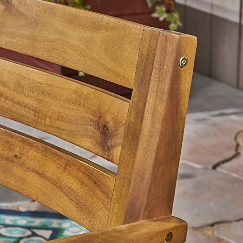 Christopher Knight Home 306255 Renee Outdoor 7 Piece Acacia Wood Dining Set Teak FinishRustic MetalDark Brown 0 1