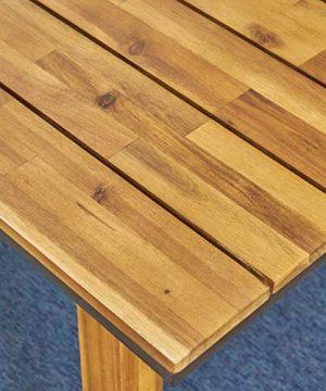 Christopher Knight Home 306255 Renee Outdoor 7 Piece Acacia Wood Dining Set Teak FinishRustic MetalDark Brown 0 2 300x360